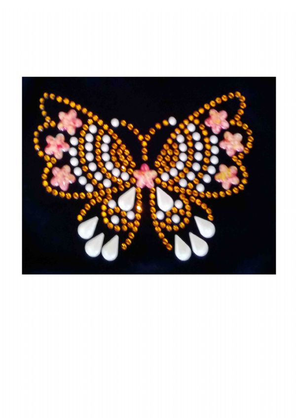 EARL410 Plain and Personalised Metallic and Velour Crop Tops With Butterfly Motif  From £14.50